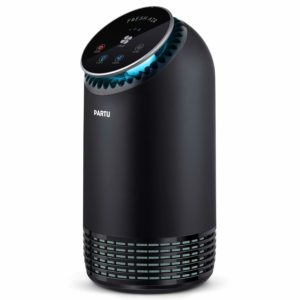 PARTU Luftreiniger Air Purifier mit HEPA-Filter 3-Stufen-Filterung für 99,97% Filtrationsleistung